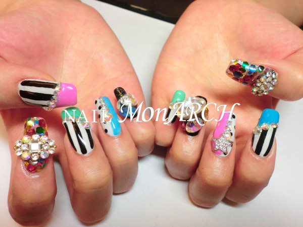 Park Boms New Nail Art By Monarch Nail Art For 1st Look Welovebom