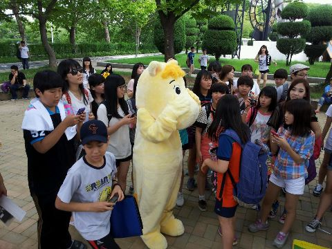 Moomin mascot outside the concert venue (courtesy of theBOM)