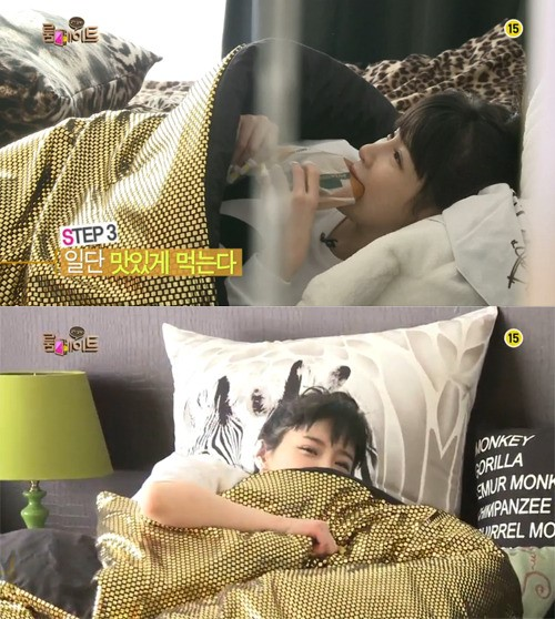 2NE1-씨엘-룸메이트-박봄-빵-물고-잔다-증언