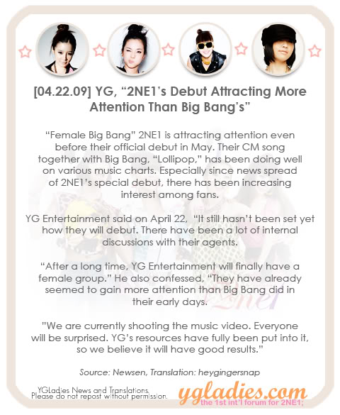 news-090422-YG-2NE1s-Debut-Attracting-More-Attention-Than-Big-Bang